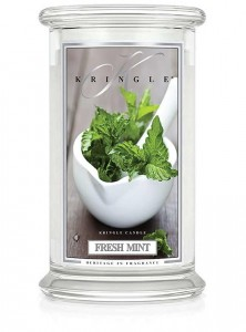 Duża świeca Dwuknotowa FRESH MINT Kringle Candle