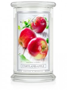 Duża świeca Dwuknotowa CORTLAND APPLE Kringle Candle