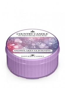 Daylight SNOWFLAKE GLISTENING Country Candle