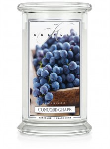 Duża świeca Dwuknotowa CONCORD GRAPE Kringle Candle