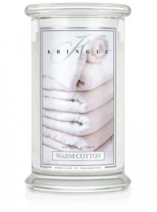 Duża świeca Dwuknotowa WARM COTTON Kringle Candle