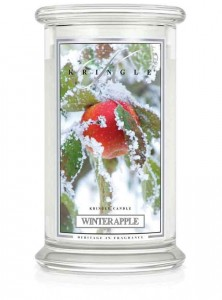 Duża świeca Dwuknotowa WINTER APPLE Kringle Candle