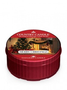 Country Candle Daylight MERRY CHRISTMAS