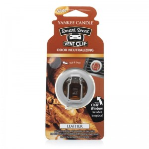 Car vent clip LEATHER Yankee Candle