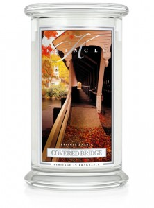 Duża świeca Dwuknotowa COVERED BRIDGE Kringle Candle