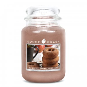 OUTLET Świeca zapachowa duża SUGARED CINNAMON DONUT Goose Creek Candle